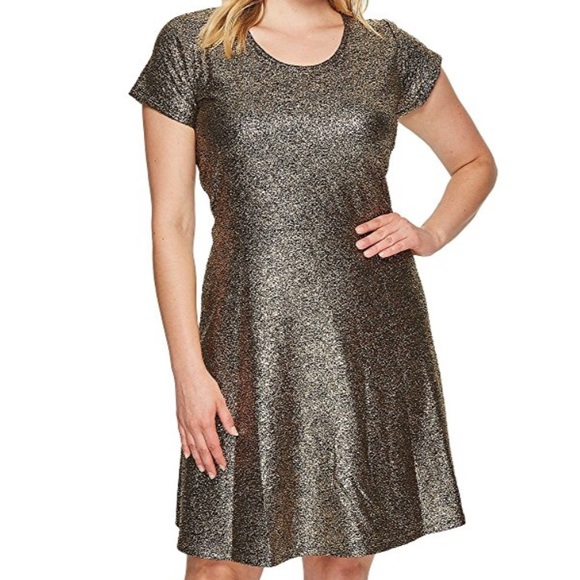 Michael Kors Dresses | Gold Sparkle Dress Plus Size | Poshmark